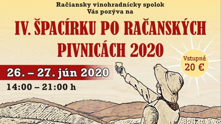 IV. ŠPACÍRKA PO RAČANSKÝCH PIVNICÁCH 2020